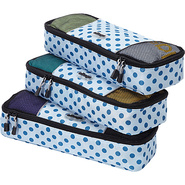 Slim Packing Cubes - 3pc Set Blue Polka Dot - eBag