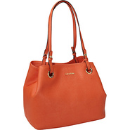 Key Item Tote Saffiano Leather Burnt Orange - Calv