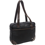 Hudson Waxed Shoulder Bag Black - TOKEN Ladies' Bu