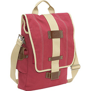 Eco-Friendly Vertical Laptop Messenger - Red
