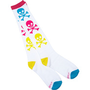 Neon Skull and Crossbones Socks White/Neon - Loung