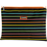 Medium Zippered Carry All - Pencil Stripes