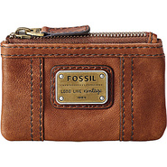 Emory Zip Coin Saddle - Fossil Ladies Key/Card/Coi