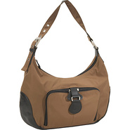 Chicago Microfiber Hobo Bag with Leather - Shoulde