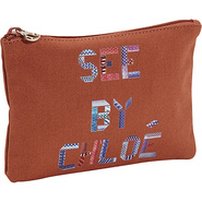 See By Tape Zipped Pouch Sienna - SEE by Chloe Des