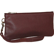 Cher Leather Wristlet Burgundy - Brynn Capella Lea