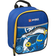 Ninjago Lightning Vertical Lunch Bag Blue - LEGO T