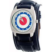 Rebel Mens Watch White, Red, and Blue Dial - Lambr