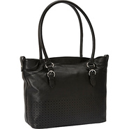 Farah Tote Black - Perlina Leather Handbags