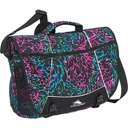 Tank Messenger Bag Feather Rainbow, Black