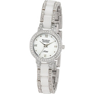 Swarovski Crystal Accented Watch White - Armitron 