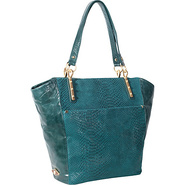 Intreccio Tote Teal - Elliott Lucca Leather Handba