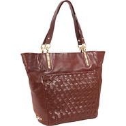 Intreccio Tote Teak - Elliott Lucca Leather Handba
