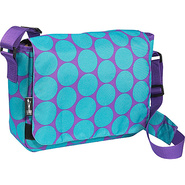 Big Dot Aqua Kickstart Messenger Bag - Big Dots