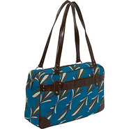 Ladies Laptop Weekender - Teal Leaf