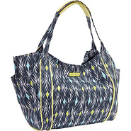 Voyage Shoulder Bag Blue Black - Roxy Fabric Handb