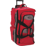 Eight Pocket 33  Rolling Duffel - Red