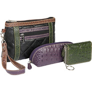 Quilted Cosmetic/Croc Wallet/Croc Eyeglass Case se