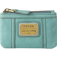 Emory Zip Coin Aqua - Fossil Ladies Key/Card/Coins