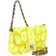 Mini Leopard Shoulder Bag Neon Yellow Leopaed - Ju