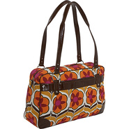 Ladies Laptop Weekender - Orange Flower