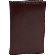 Old Leather 8 Pocket Credit Card Case Dark Brown -