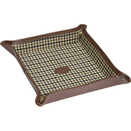 Leather Folding Snap Dressing Tray Brown - Budd Le