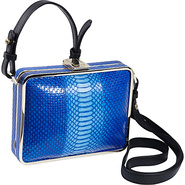 Cadeau Shoulder Bag Blue Snake - Foley + Corinna D