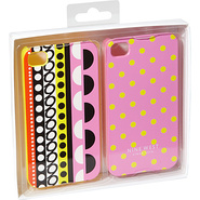 Can't Stop Shopper iPhone 4 Cases 2pk Pink/Yellow