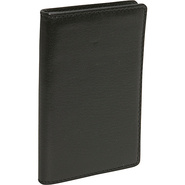Cowhide Leather Credit Card Case - Black