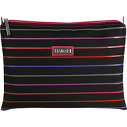 Small Zippered Carry All - Pencil Stripes Berry