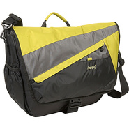 Velocity Nylon Messenger Bag - Lime Green