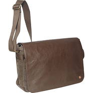 Sheridan Waxed Shoulder Bag (L) Dark Brown - TOKEN