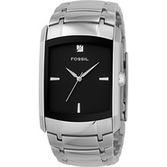 Fossil Men&#39;s Three-Hand Stainless Steel Dlack