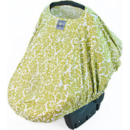Peek-A-Boo Pod Infant Carrier Pod Avocado Damask -