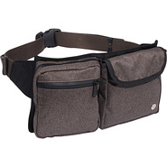 Tweed Lexington Waist Bag Dark Brown - TOKEN Waist