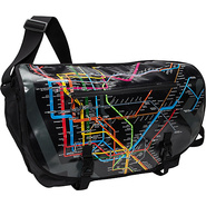 Transit 17  Laptop Messenger Bag-NYC Subway Map Bl