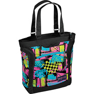 Jansport Ella Tote - Black/Fluorescent Street Scen