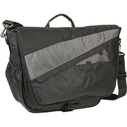 Velocity Nylon Messenger Bag - Gray with Black