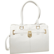 Modena Leather Tote White - Calvin Klein Leather H