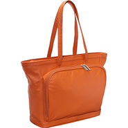 Cosmopolitan Leather Tote - Coral