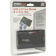 USB 2.0 3-Port Hub & Card Reader/Writer
