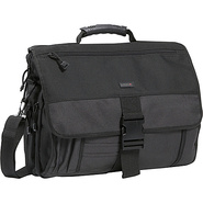 Expandable  Messenger Bag - Charcoal/Black