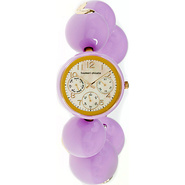 Happy Balls Ladies Watch White Dial; Lavender Band