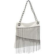 Faux Leather Chain Fringe Bag - Tote