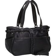 Braided Belt Shoulder Bag - Black