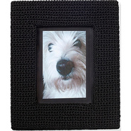The Sak Classic Home Frame Black Sparkle Crochet -