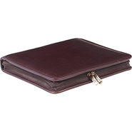 Zippered Leather Three Ring Binder Cafe - ClaireCh