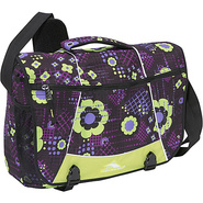 Tank Messenger Bag Electric Flowers, Chartreuse, B