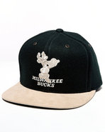 Men Milwaukee Bucks Nba Suede Strap Adjustable Cap